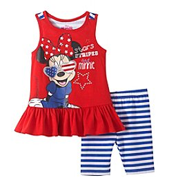 Disney® Girls' 2T-6X Stars, Stripes And Minnie Mouse® Printed Tank And Leggings Set