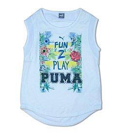 PUMA® Girls' 7-16 Sleeveless Fun 2 Play Printed Tee