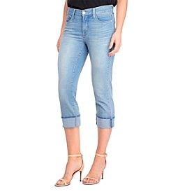 NYDJ® Petites' Dayla Wide Cuff Capri Jeans
