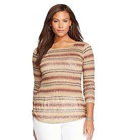 Lauren Ralph Lauren® Plus Size Striped Linen Pullover