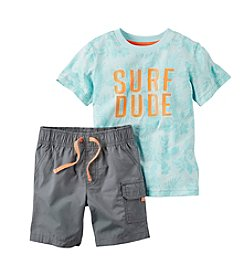 Carter's® Baby Boys Surf Dude Tee And Shorts Set