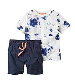 Carter's® Baby Boys Tie-Dye Tee And Shorts Set