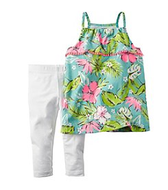Carter's® Baby Girls' Floral Tank And Leggings Set