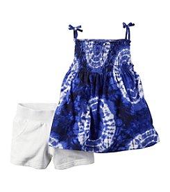 Carter's® Baby Girls' Tie-Dye Tank And Shorts Set
