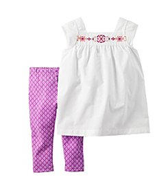 Carter's® Baby Girls' Embroidered Tank And Printed Leggings Set