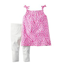 Carter's® Baby Girls' Damask Printed Tank And Leggings Set