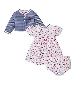 Little Me® Baby Girls' 3-Piece Daisy Printed Dress Set