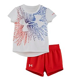 Under Armour® Baby Girls' Starburst Logo Tee And Shorts Set