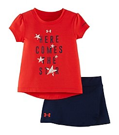 Under Armour® Baby Girls' Here Comes The Star Tee And Scooter Set
