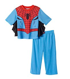 Spider-Man® Boys' 2T-4T 2-Piece Spiderman Printed Pajama Set With Cape