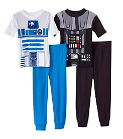 Star Wars™ Boys' 4-10 4-Piece Printed Pajama Set