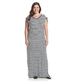 MICHAEL Michael Kors® Plus Size Pindo Striped Ruched Maxi Dress