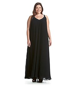 MICHAEL Michael Kors® Plus Size Pleated Grommet Maxi Dress