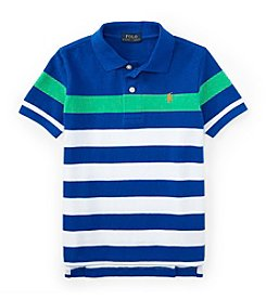 Ralph Lauren Childrenswear Boys' 2T-7 Short Sleeve Striped Polo