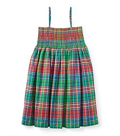 Ralph Lauren Childrenswear Girls' 7-16 Plaid Tank Dress