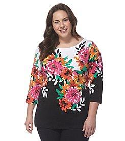 Rafaella® Plus Size Floral Print Top