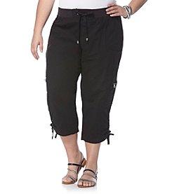 Rafaella® Plus Size Poplin Cargo Capri Pants