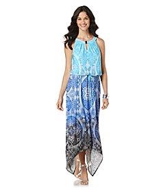 Rafaella® Petites' Mandala Dip Dye Maxi Dress