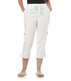 Rafaella® Petites' Poplin Cargo Capri Pants