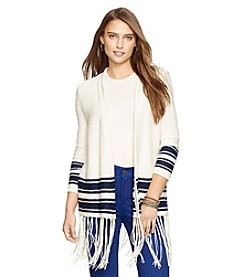Lauren Jeans Co. Fringe-Trimmed Cardigan