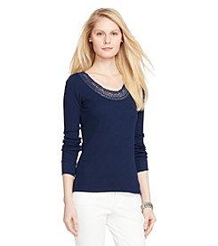 Lauren Jeans Co.® Waffle-Knit Top