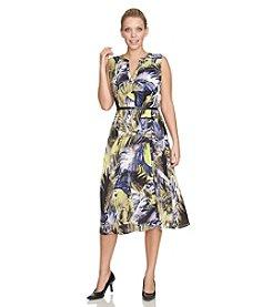 Chaus Palm Tropics Belted Maxi Dress