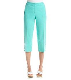 Rafaella® Snap Capri Pants