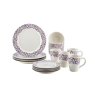 Rachael Ray® 16-pc. Scroll Stoneware Dinnerware Set
