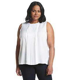 MICHAEL Michael Kors® Plus Size Sleeveless Pleated Top