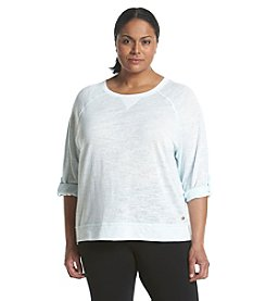 Calvin Klein Performance Plus Size Notchneck Top