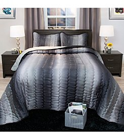 Lavish Home Striped Metallic 3-pc. Bedspread Set