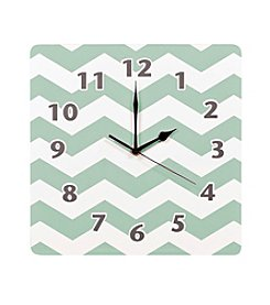 Trend Lab Sea Foam Chevron Wall Clock