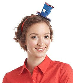 Studio Works® Red White And Blue Top Hat Headband