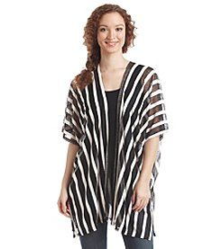 Cejon® Vertical Burnout Stripe Topper With Slit