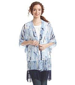 Cejon® Marble Wall Kimono With Fringe