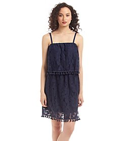 Eyeshadow® Lace Popover Dress