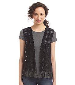 Kensie® Crochet Vest