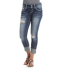 Crave Fame® Cropped Destructed Jeans