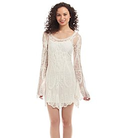 Sequin Hearts® Lace Dress