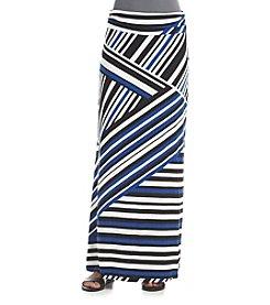 Sequin Hearts® Mixed Chevron Maxi Skirt