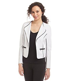 XOXO® Ponte Piped Jacket