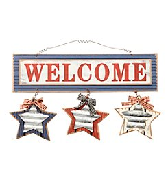 LivingQuarters Americana Collection Welcome Sign