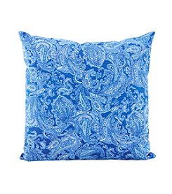 LivingQuarters Lake Collection Paisley Printed Cushion