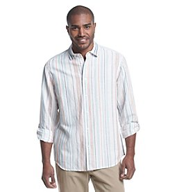 Paradise Collection® Men's Long Sleeve Stripe Button Down Shirt