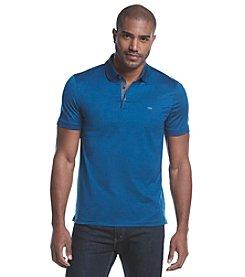 Michael Kors® Men's Chambray Trim Short Sleeve Polo Shirt