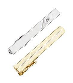 Kenneth Roberts® Goldtone And Silvertone Tie Bar Set