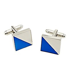 Kenneth Roberts® Square Silver And Blue Cufflinks