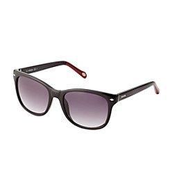Fossil® Men's Dark Havana Retro Square Sunglasses