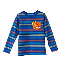 Mix & Match Boys' 2T-4T Long Sleeve Dinosaur Pocket Striped Tee
