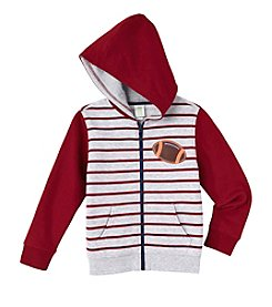 Mix & Match Boys' 2T-7 Long Sleeve Football Fleece Zip Hoodie